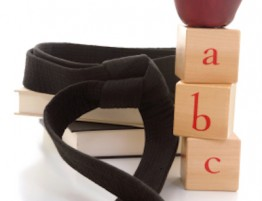 Black belt in an educational setting.